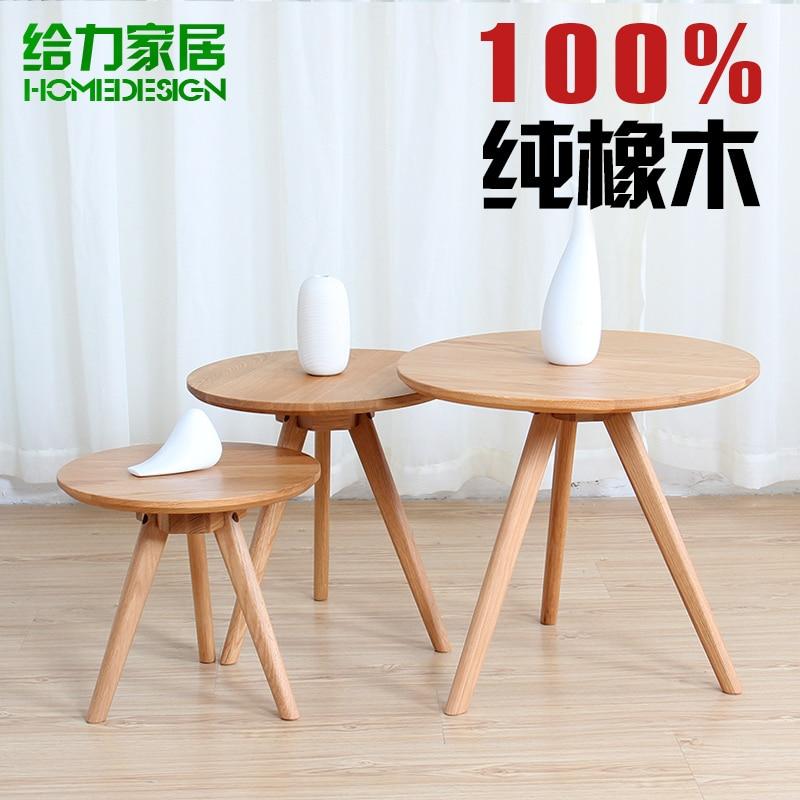 Coffee Table Oak Wood Round Logs