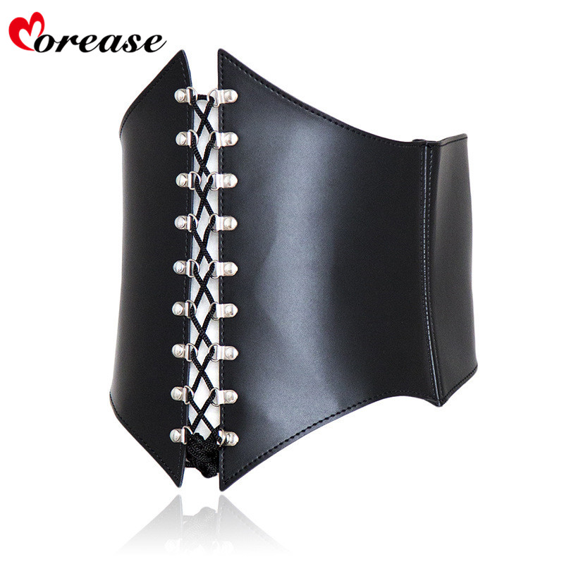 Morease Adult bdsm bondage sexy adjustable waist training croset tops sex toys for female fetish chastity belt