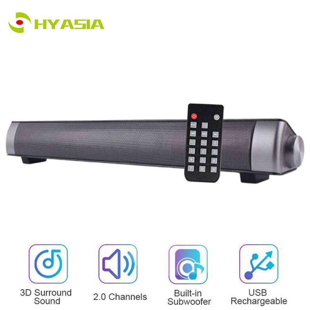 HYASIA livraison gratuite PC barre de son Bluetooth 4.1 haut-parleur sans fil haut-parleur Bluetooth barre de son Home cinéma système de son haut-parleur TV