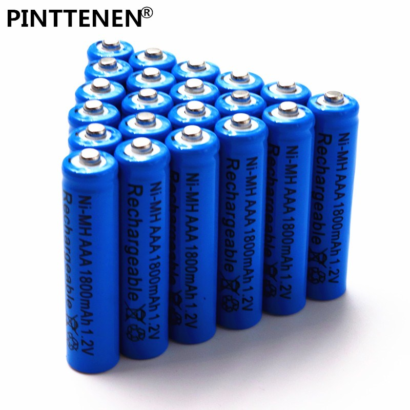 PINTTENEN New AAA battery 1800 mAh Rechargeable battery NI-MH 1.2 V AAA battery for Clocks, mice, computers, toys so on