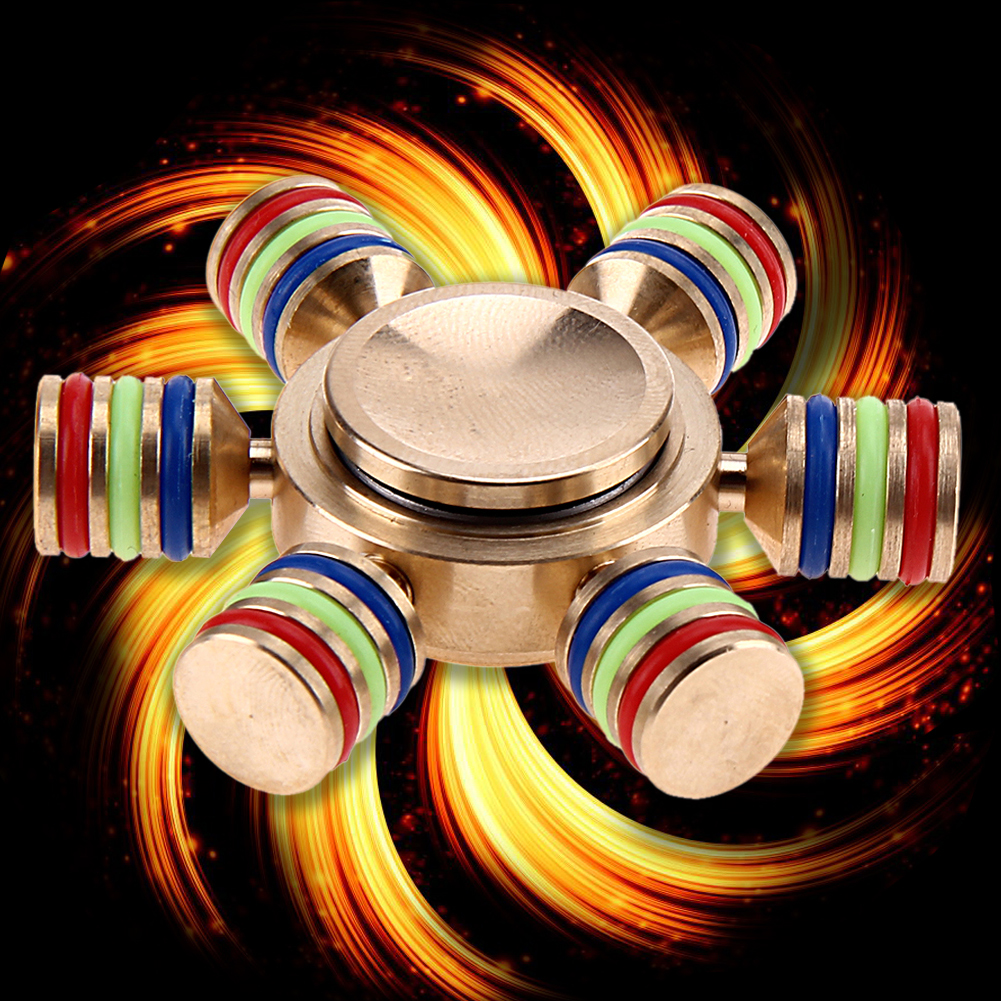 Rainbow Fidget Spinner Metal Finger Spinner Hand Spinner Brass For Autism Adult Anti Relieve Stress Toy Spiner
