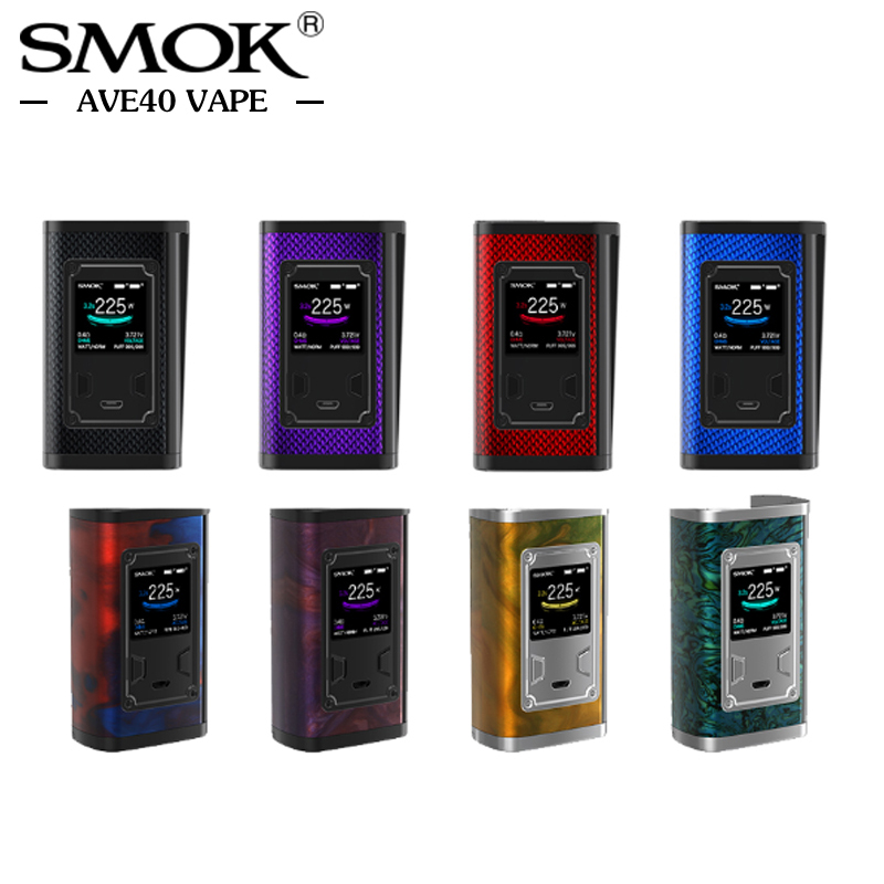 Original SMOK Majesty Mod 225W Box Mod Carbon Fiber Resin Color TC E Cigarettes for SMOK X-Baby Tank Vaporizer VS Alien Mag Mod