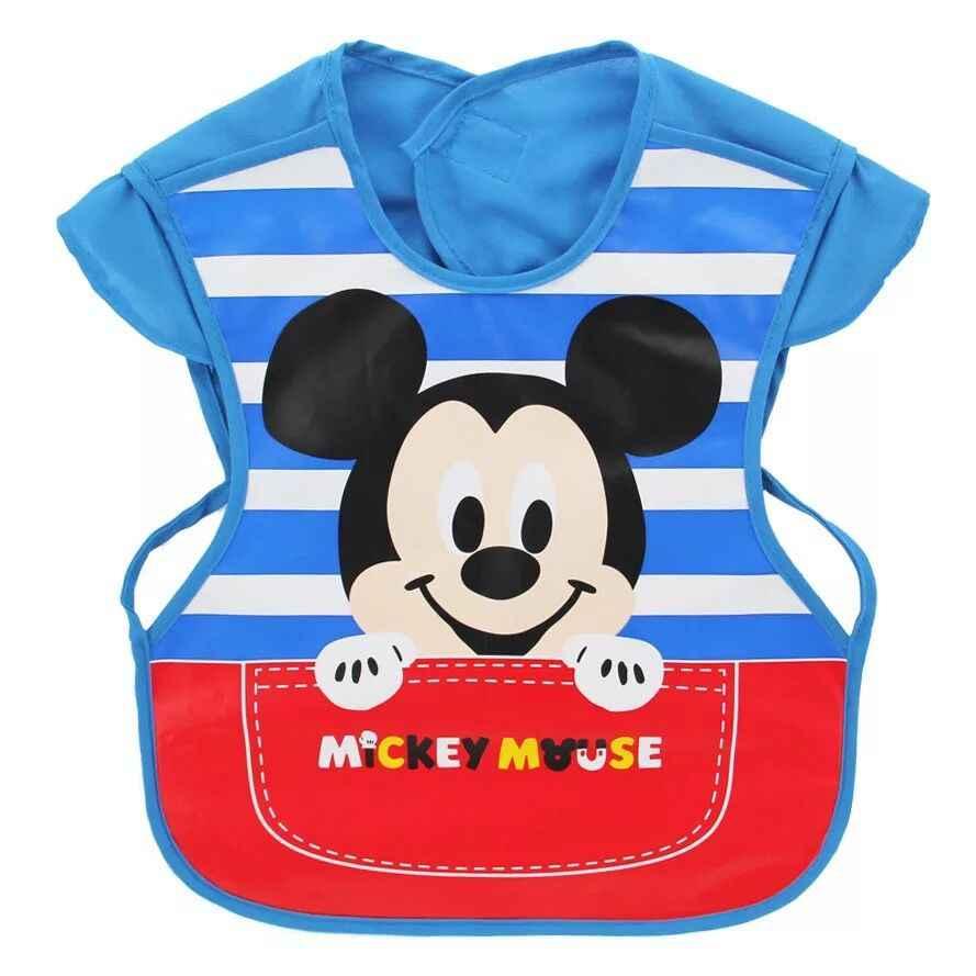 Disney minnie Eva na szelkach wodoodporne dzieci kitel ciążowe chłopiec dziewczyna dla dzieci przedszkole dla dzieci cartoon śliniaczek na szelkach koszulka Mickey