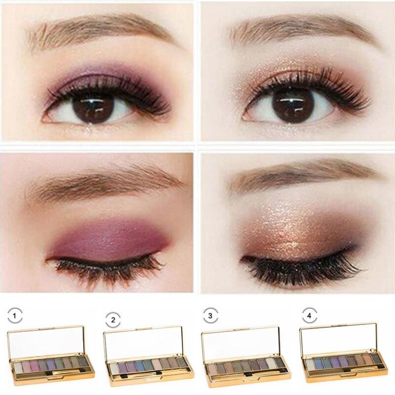 9 colori eye shadow maquillage cosmetico professionale con la spazzola diamante brillante dellombretto di - Colori Maquillage