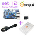 Orange Pi Plus 2E SET12:  Pi Plus 2E + Power Cable + Transparent Acrylic Case +16GB Class 10 SD Card not for  Raspberry