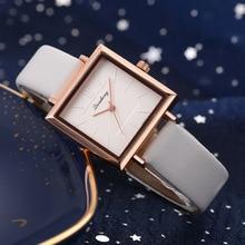 цена на COXRY New Simple Style ladies watches 2019 European American Trend square Quartz watch women PU Belt Watch female wristwatch