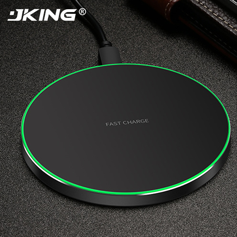 JKING 10W Fast Qi Wireless Charger Charging Pad for iPhone 8 8 Plus X Samsung Note 8 Galaxy S8 S7 for Xiaomi Mix 2s