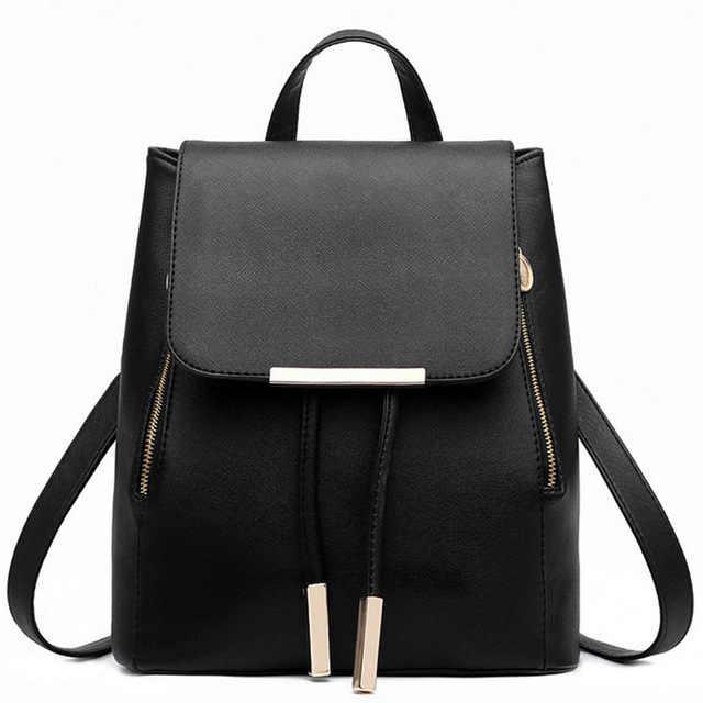 1e68700b6df4 Рюкзак Для женщин Pu кожаные женские Рюкзаки подросток школьные сумки  Mochila Feminina рюкзак Mochilas Mujer 2018