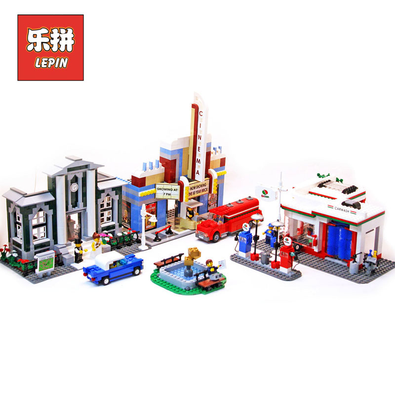 Lepin City 02022 50th Anniversary Town Compatible Legoinglys 10184 Building Blocks Bricks educational Toys for children Gifts