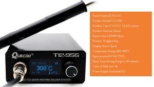 Image 5 - STC Estación de soldadura T12 956 soldador electrónico, estación Digital OLED T12, herramienta de soldadura de punta de hierro para soldadura con mango de T12 P9