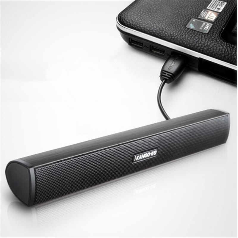 IKANOO ขายร้อนแบบพกพาแล็ปท็อป/คอมพิวเตอร์/PC ลำโพงซับวูฟเฟอร์ USB Soundbar Sound Bar Stick เครื่องเล่นเพลงลำโพงสำหรับแท็บเล็ต