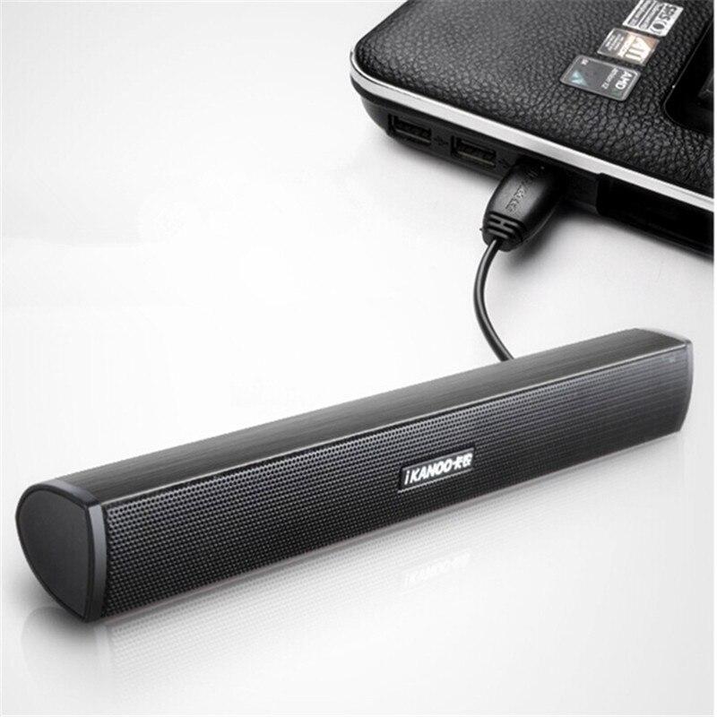 IKANOO VENDAS HOT Portátil Laptop/Computador/PC Orador Leitor de Música Alto-falantes Subwoofer USB Soundbar Sound Bar Vara Para tablet