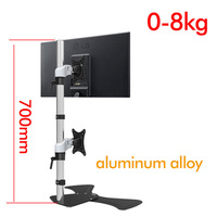 D MOUNT DL JF120 big base aluminum grommet table clamp 15 27 screen lcd tv stand monitor desktop support bracket rotate
