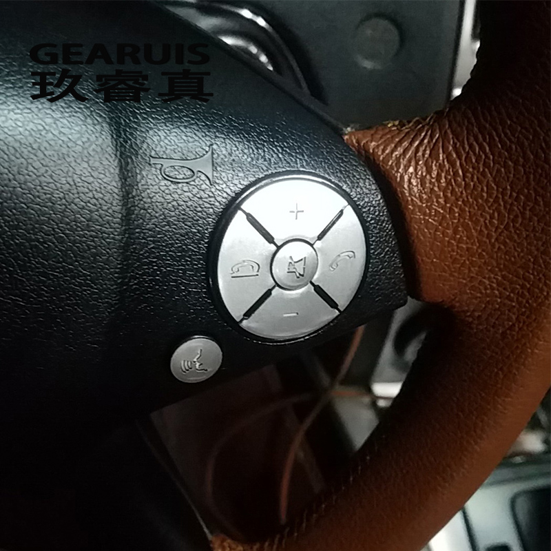 Araba Styling direksiyon düğmeleri kapak Sticker Trim için Mercedes Benz C r E r E r E r E r E r E r E r E r E r E sınıf W204 W212 GLK X204 iç oto aksesuarları