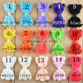 50pcs/lot 15colors Shabby Chic Chiffon Rose Flower Bows Rosette Hair Accessory Children Baby Rosette Bows WITHOUT CLIP
