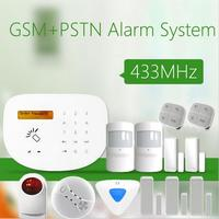 Hot Selling PSTN GSM Alarm System 433MHz Home Burglar Security Alarm System Wireless Smoke Detector Indoor