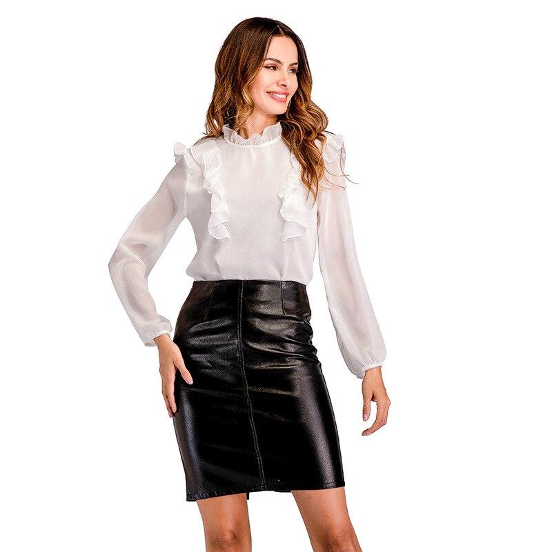 Féminin Sexy en mousseline de soie mignon Femme Blouse et chemises Chemise Femme tunique mode été 2018 femmes vêtements Dentelle