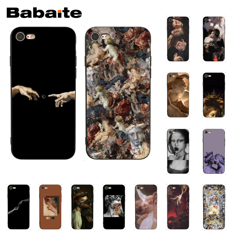 Babaite Vintage Plaster Statue David aesthetic Art Phone Case for iphone 11 Pro 11Pro Max 8 7 6 6S Plus X XS MAX 5 5S SE XR