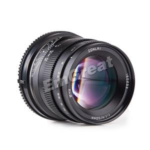 Image 2 - Zonlai 50 มิลลิเมตร F1.4 ขนาดใหญ่เลนส์เลนส์โฟกัส 195 กรัมสำหรับ Sony E   mount สำหรับ Fuji canon EOS M กล้อง Mirrorless Mirrorless