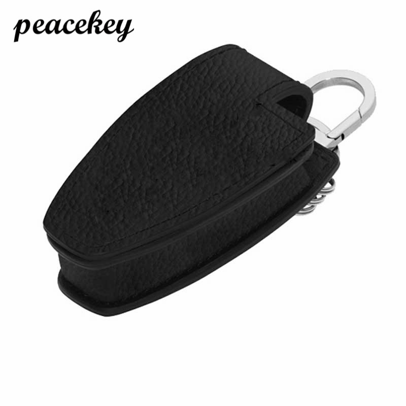 Peacekey Genuine Leather Keychain For Mercedes Benz W124 W210 W204 W211 CLA AMG W203 W202 W212 For Mercedes Benz W211 Key Case image