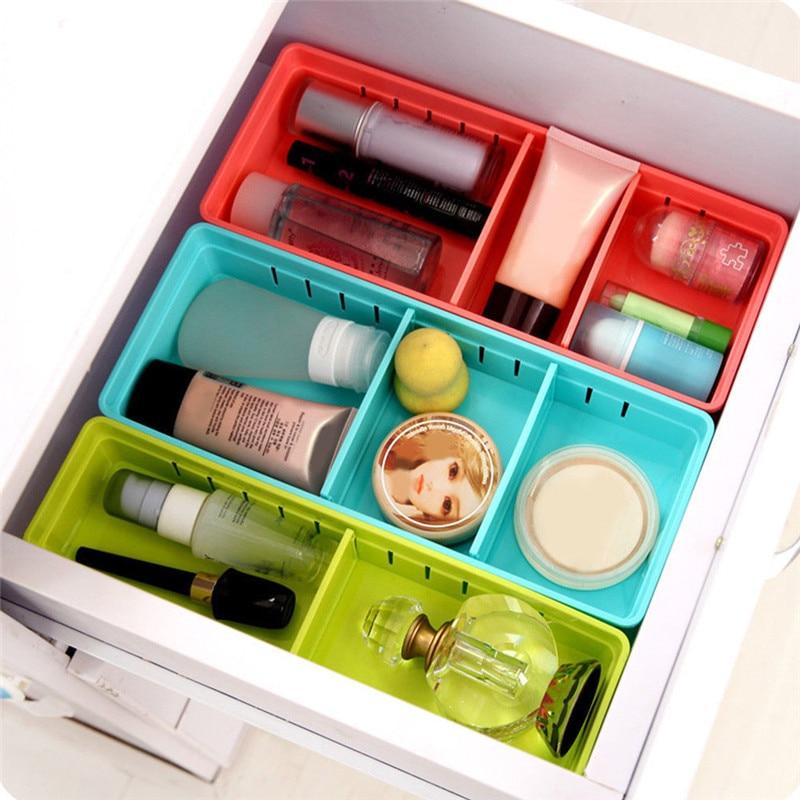 Multifunctional Adjustable New Drawer Organizer Home Kitchen Board Divider Makeup Storage Boxes