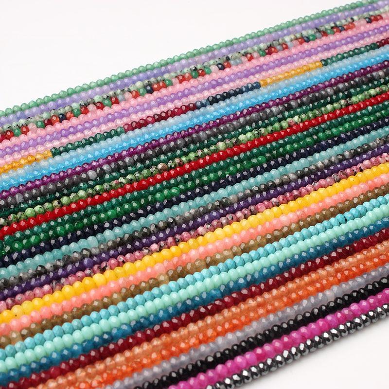 LanLi 2x4mm moda multicolor natural pedras Soltas beads estar apto para DIY pulseira colar de Homens e mulheres acessórios de jóias