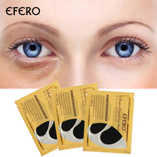 EFERO Collagen Eye Mask Black Gel Patches Moisturizing Dark Circles Removal Anti Age Repair Face 5Pair=10pcs