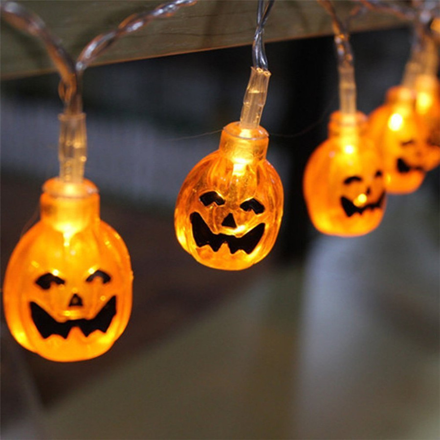 Waterproof 1M 10Leds Acrylic Pumpkin string light for Holiday,Outdoor Decoration Yellow