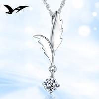 925 zilveren hanger angel wing hanger zilveren sieraden groothandel ketting accessoires anti-allergie hot