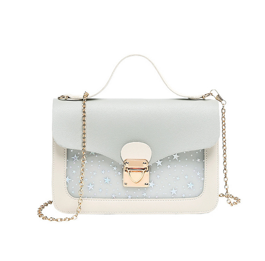 2019 Fashion Lady Transparent Small Square Bag Chains Shoulder Bag Messenger Bags Hand Wallet Beach Summer Bolsas De Mujer #7 With The Most Up-To-Date Equipment And Techniques Top-handle Bags