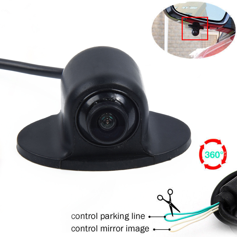 12V MiNI CCD Coms HD Night Vision 360° Car Rear Front Side View Backup Camera