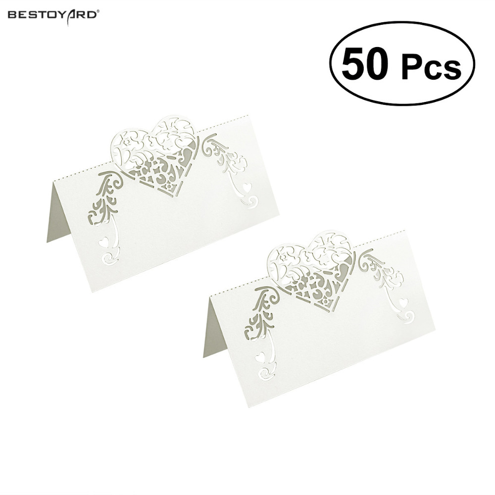 50pcs Laser Cut Place Cards Wedding Name Cards Guest Name Place Card Wedding Party Table Decoration,Wedding Decoration,Wedding 50 butterflies laser cut name place cards wedding guest table cards wedding card birthday party table cards invitations wn0274