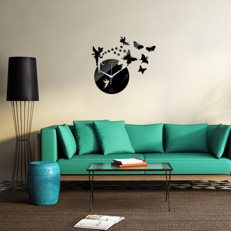 hot sale 17 top fashion 3d diy acrylic wall clock home decoration living room stickers new watch clocks 1