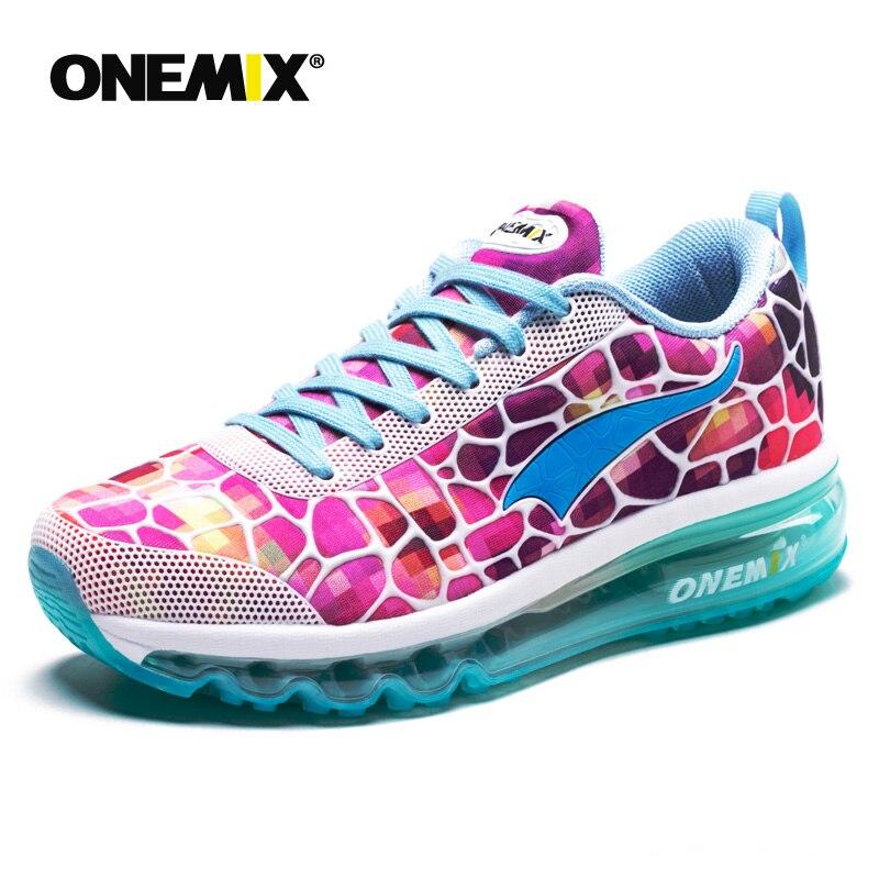 Chaussures de course pour femmes Onemix respirant Zapatillas Hombre baskets de Sport de plein Air coussin d'air chaussures de Sport de marche légères