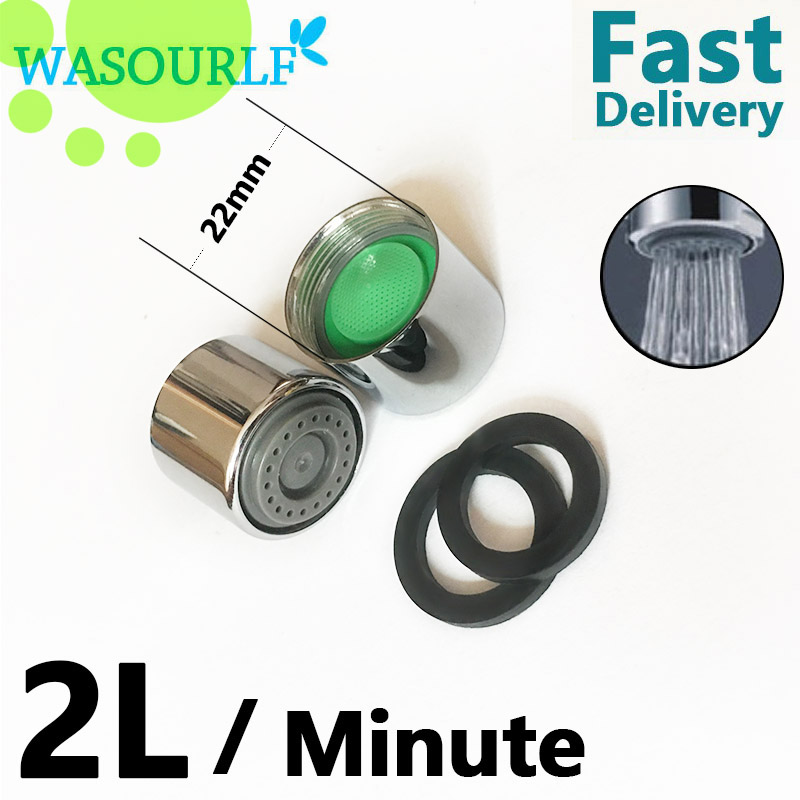 WASOURLF 2PCS M22*1 Inner Female Thread 2L 3L 4L 6 8L Water Saving Aertor Faucet Tap Brass Shell Spout Plastic Core Bubbler