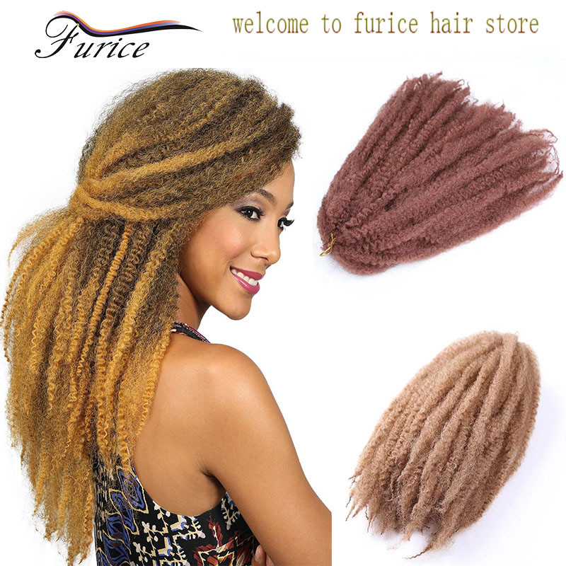Long Afro Kinky Crochet Braid Hair Synthetic Marley