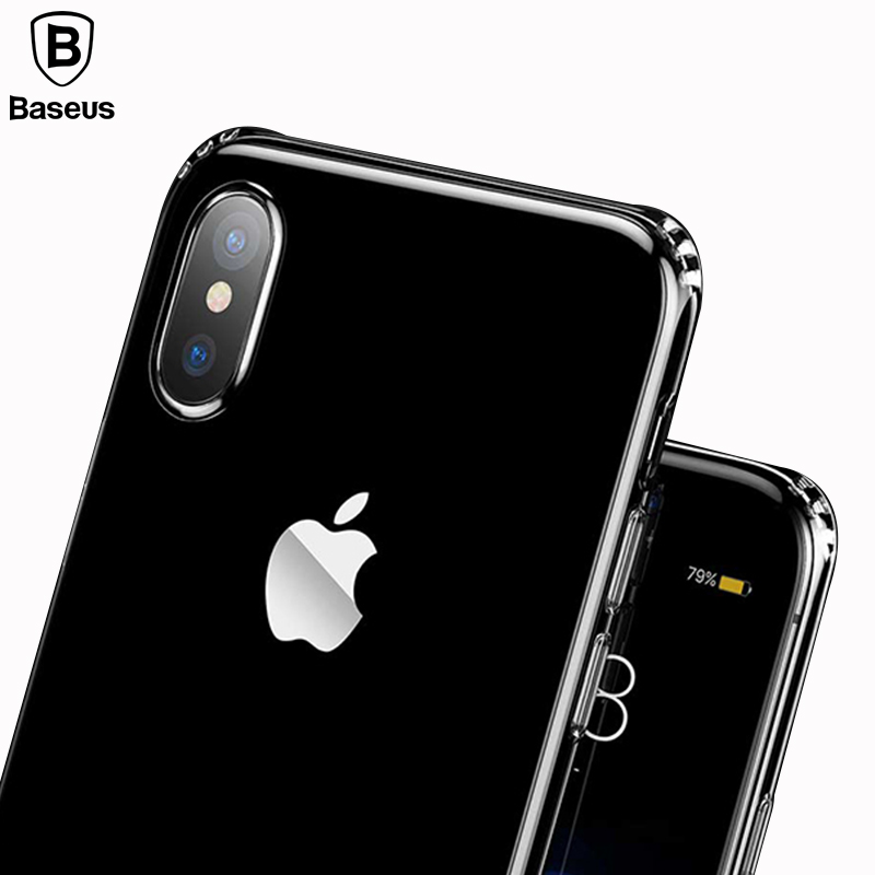 best service ea45b 8a85b US $4.61 |Baseus Ultra Thin Soft TPU Phone Case For iPhone X Crystal Clear  Anti fall Silicone Back Capinhas For Apple iPhone X Cover Case-in Fitted ...
