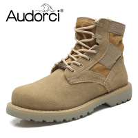 Audorci 2018 Cow Suede Leather Men Ankle Boots Winter Warm Lace Up Men S Shoes Spring