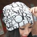 Зимние Шапки для Женщин Letter Pattern Крышки Зимы Женщины Хлопчатобумажная Ткань Шапочки Дизайнер Капот Hat для Женщин Мужчины Шапочка M1021