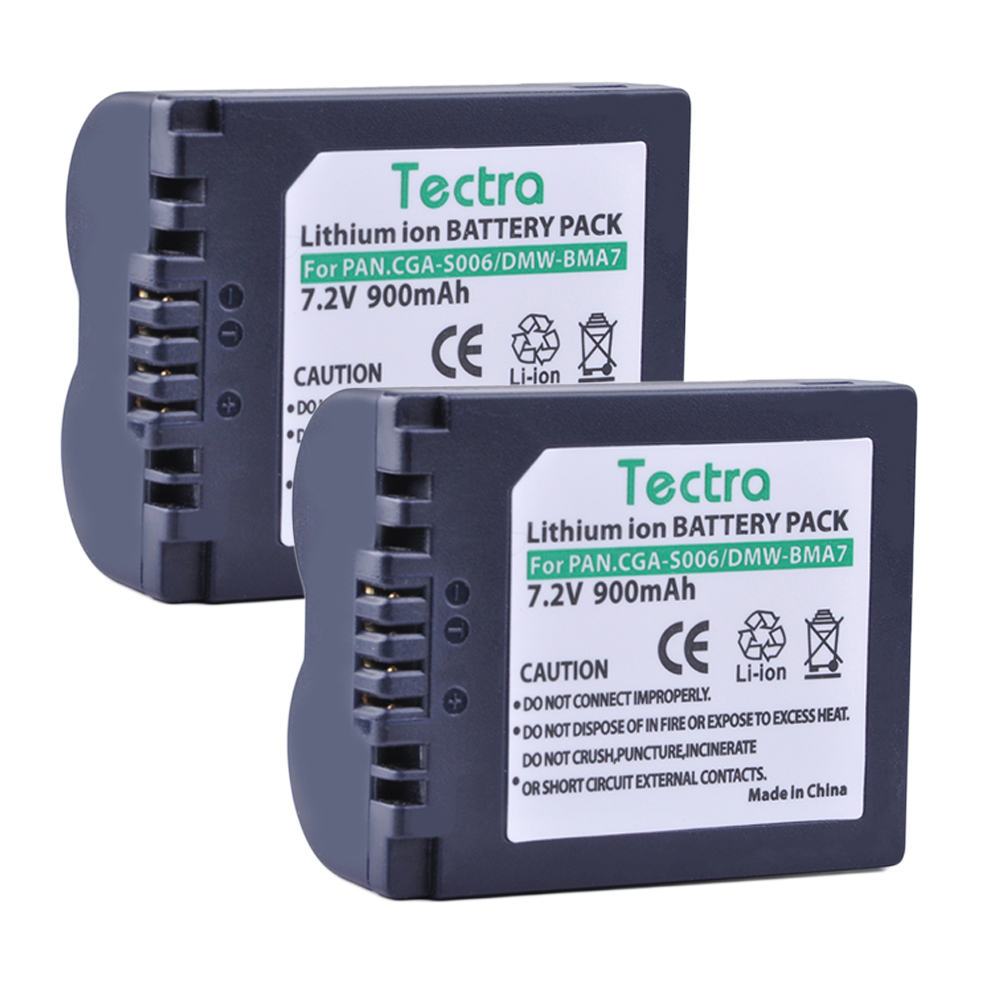 Tectra 2Pcs CGA-S006 CGA-S006A CGR-S006E DMW-BMA7 Li-ion Battery for Panasonic Lumix DMC-FZ7 FZ8 FZ18 FZ28 FZ30 FZ35 FZ38 FZ50 rs3008 wired shutter release for panasonic lumix dmc fz20 fz30 fz50 lc1 1m cable