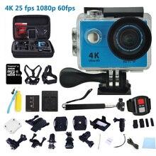 Action camera Ultra HD 4K 25fps WiFi 2.0″ 170D underwater h9 waterproof surfing diving Bike Helmet Cam Spors cameras