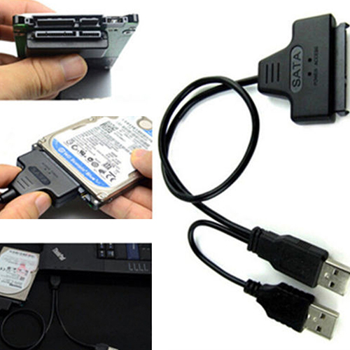 все цены на Hard Disk Drive SATA 7+15 Pin 22 to USB 2.0 Adapter Cable For 2.5 HDD Laptop онлайн
