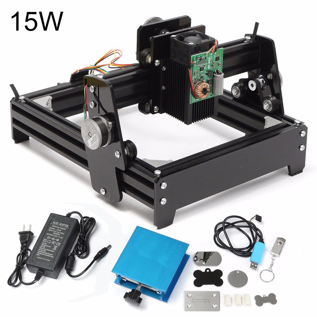 15 W Laser AS-5 USB bureau 15000 mW CNC Laser graveur bricolage Machine de marquage routeur pour métal pierre gravure sur bois zone 14x20 cm