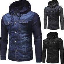 ZOGAA куртка 2019 осенью и зимой новый мужской повседневный тренд джинсовая куртка с длинными рукава