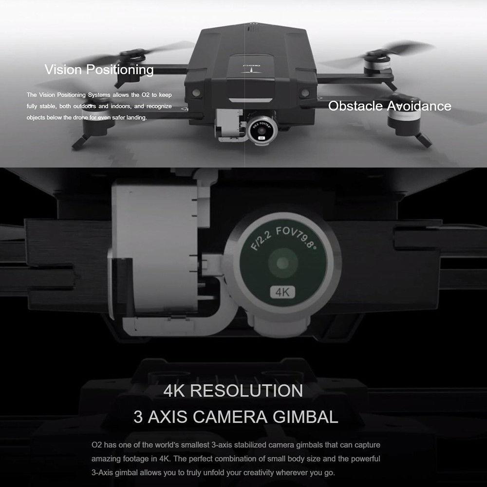 Original GDU O2 Drones FPV Foldable Quadcopter with 4K HD Camera GPS & GLONASS Avoidance Sound Wave Positioning VS DJI Mavic Pro