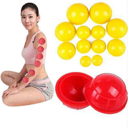 12pcs/set Family Body Massage Helper Anti Cellulite Vacuum Silicone Cupping Cups Chinese Medical Cupping (Random Color) 1pcs rotary type anti cellulite vacuum massage cupping cups chinese therapy medical body massage helper jar health f5 c1217
