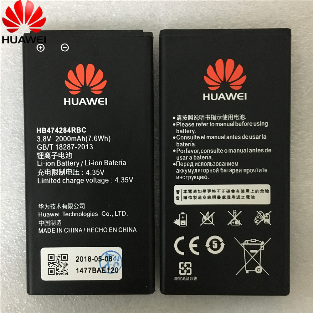Cellphones & Telecommunications Mobile Phone Batteries Hua Wei Replacement Phone Battery Hb474284rbc For Huawei Honor 3c Lite C8816 C8816d G521 G615 G601 G620 Y635 Y523 Y625 2000mah An Enriches And Nutrient For The Liver And Kidney