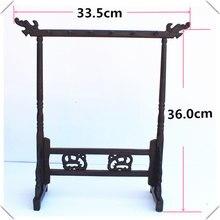 Традиционный китайский держатель для кистей, подставка для каллиграфии, 12 крючков, деревянная подставка для кистей с куриным крылом, подвес...