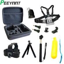 Peeynnt acessórios para gopro hero 9 alças montagens para go pro 8 7 6 5 4 3 sessão câmera de ação para sjcam sj4000 yi 4k eken h9r