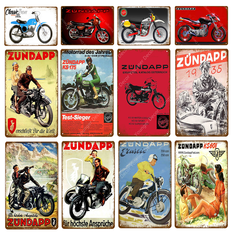 Vintage Plaque Garage Home Wall De... Triumph Motorcycle Poster Metal Tin Sign